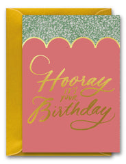 Hooray It's Your Birthday Scallops Card