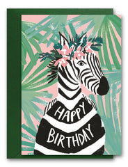 Happy Birthday Zebra Card