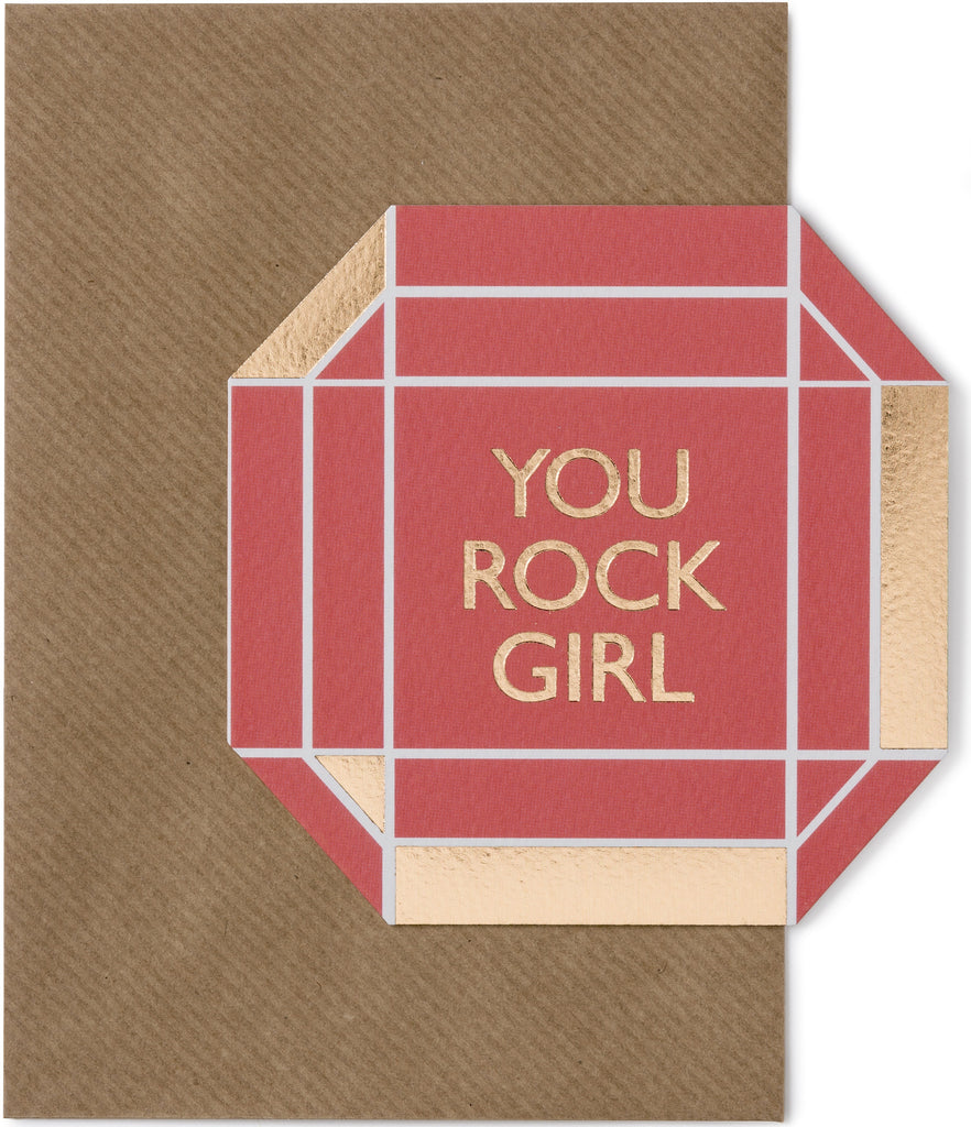 You Rock Girl Card