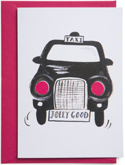 Jolly Good Black Cab Card