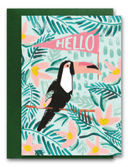 Hello Tropical Bird Card