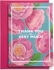 Tree Peony Thank You Very Much Card