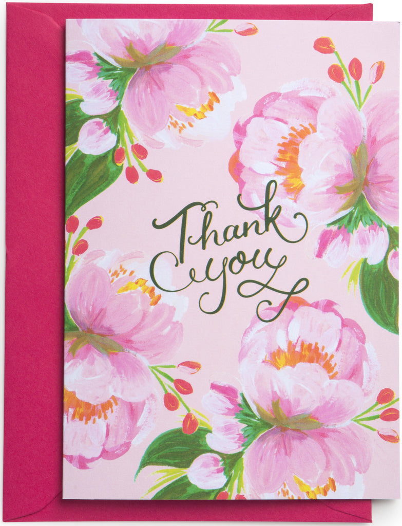 Tree Peony Thank You Cards