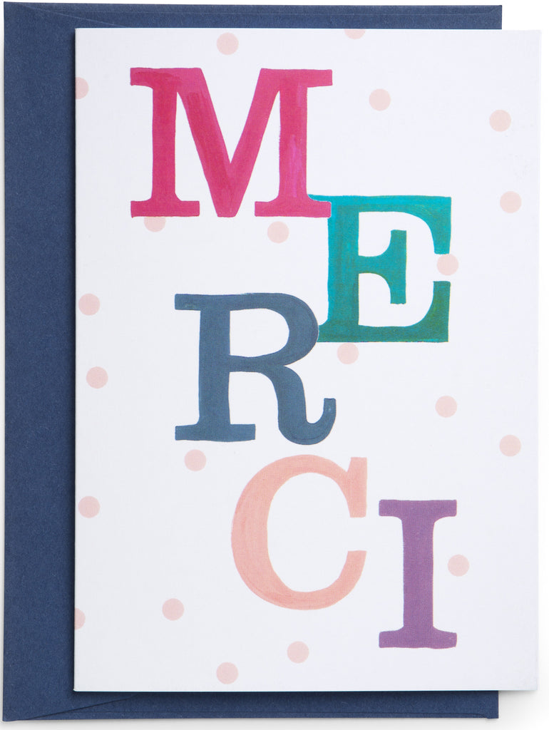Merci Thank You Mini Card