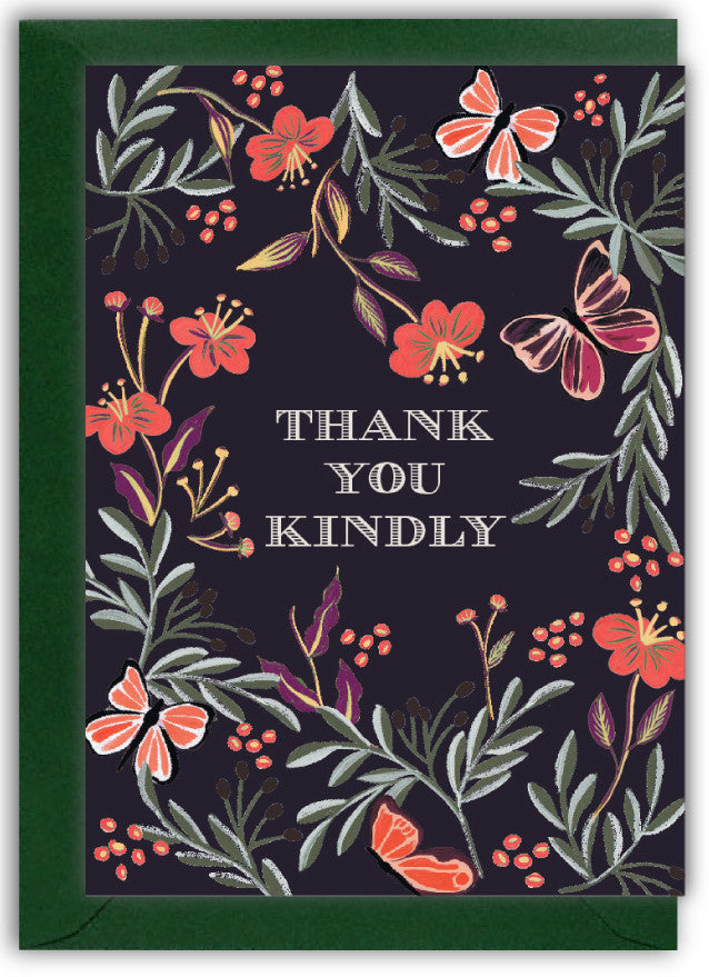 Thank You Kindly Butterflies Card