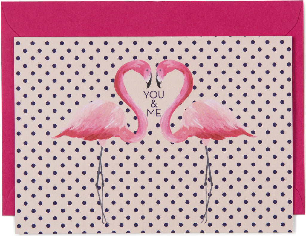 You & Me Flamingo Card