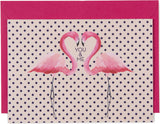 You & Me Flamingo Mini Card