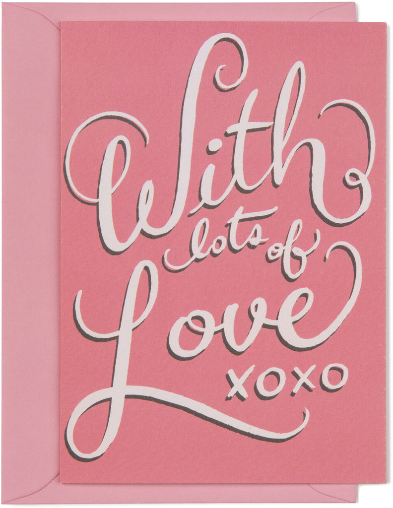 With Lots of Love Mini Card