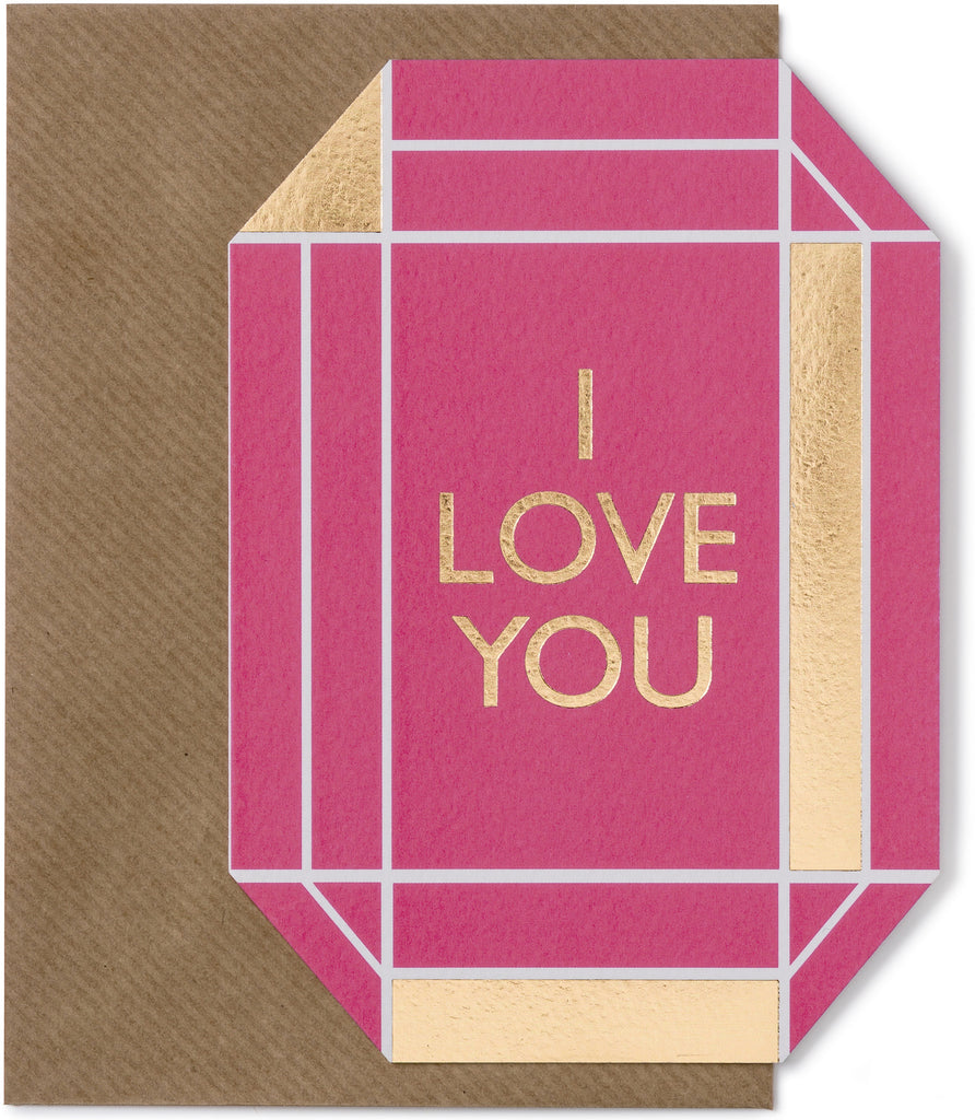 I Love You Gem Card