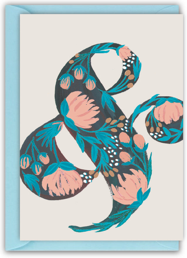 Floral Ampersand Card