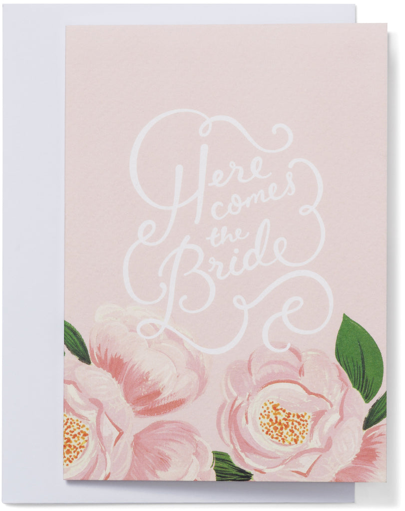 Here Comes The Bride Mini Card