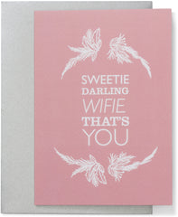 Sweetie Darling Wife Card