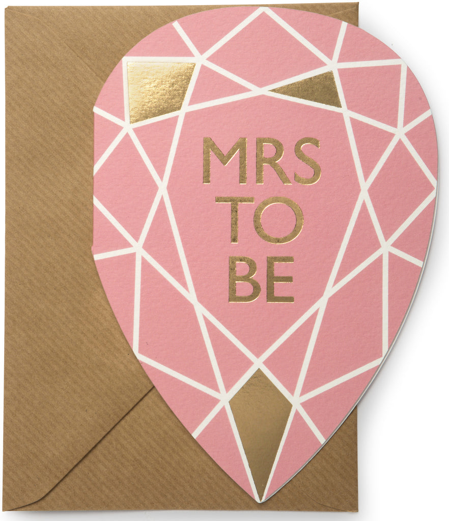 Mrs To Be Gem Card