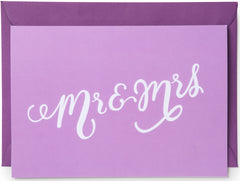 Mr & Mrs Mini Card