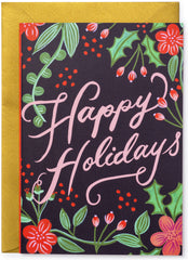 Happy Holiday Berries Christmas Card
