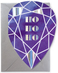 Ho Ho Ho Gem Christmas Card