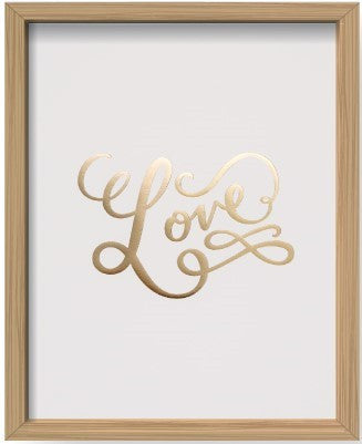 Foiled Love Print