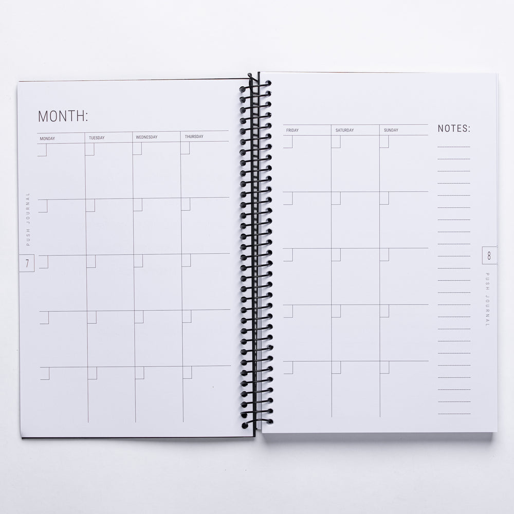 Natural Kraft PUSH Journal (30-day Journal)