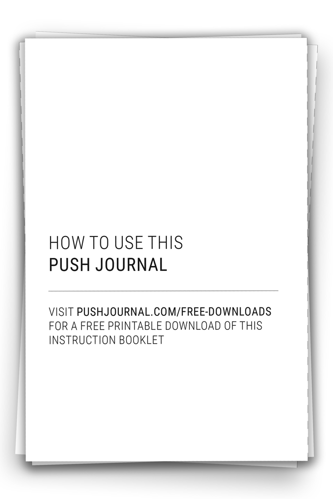 PUSH Journal Instruction Booklet