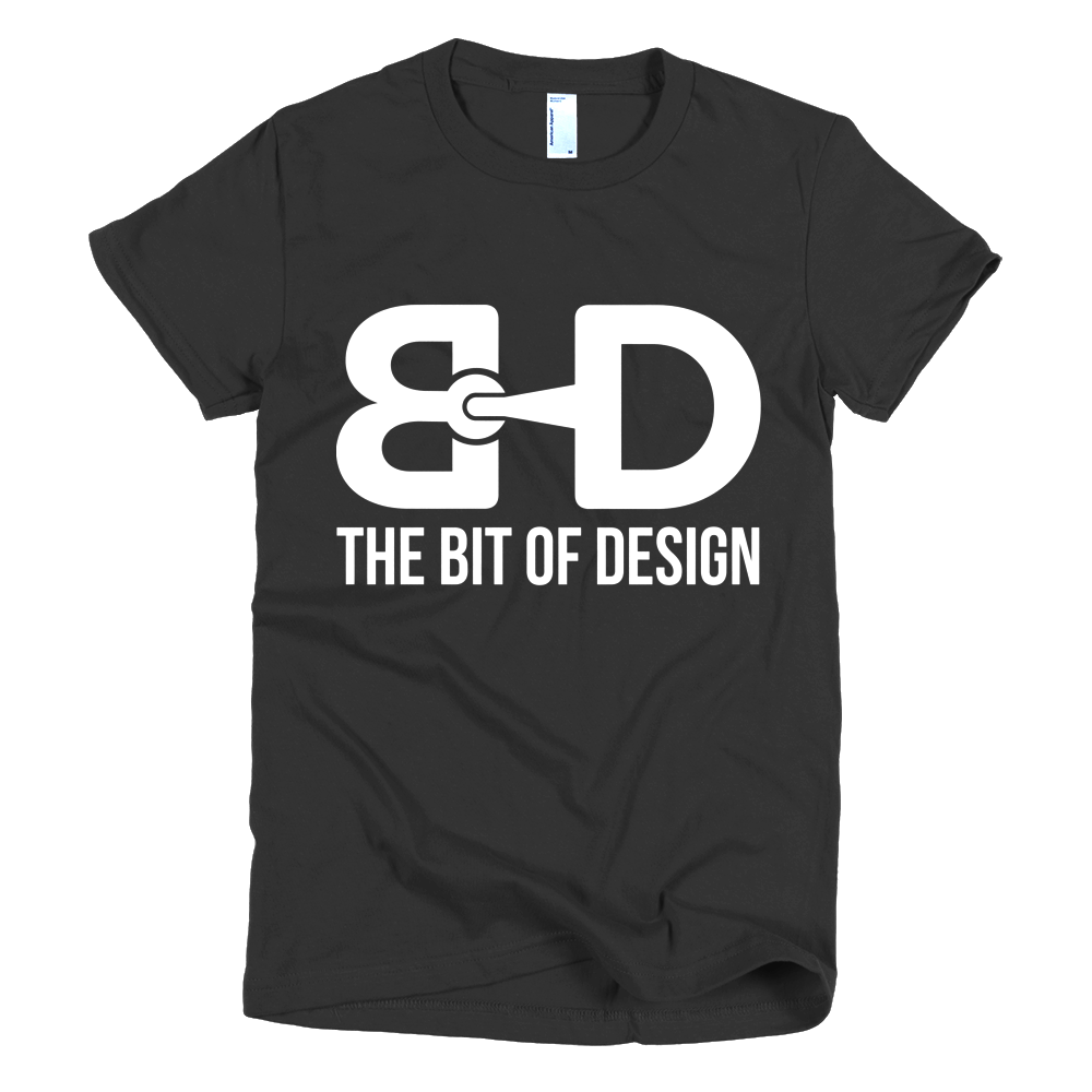 The Bit of Design Women's Logo Tee - Black