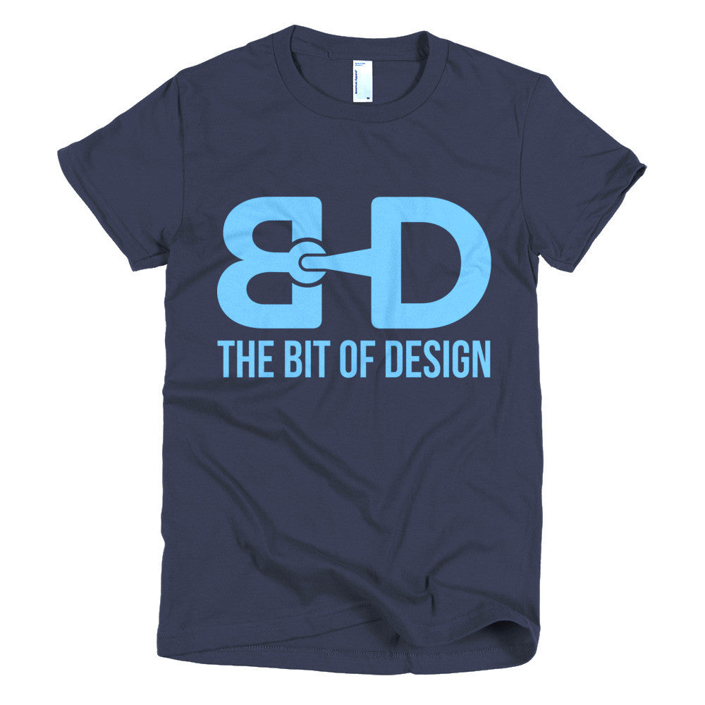 The Bit of Design Women's Logo Tee - Navy