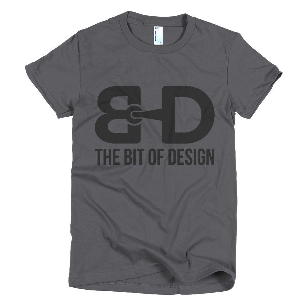 The Bit of Design Women's Logo Tee - Grey