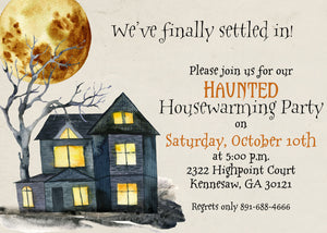 Haunted Halloween Housewarming Invitation