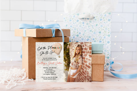 Oh the Places She'll Go Sweet Sixteen Birthday Invitation