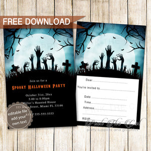 Free Halloween Invitation
