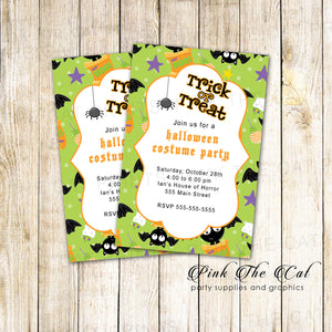 image regarding Free Printable Halloween Invitations for Adults named Absolutely free PRINTABLE HALLOWEEN Invites Purple The Cat