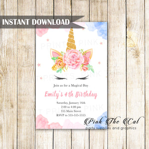 NEW FREE UNICORN INVITATION