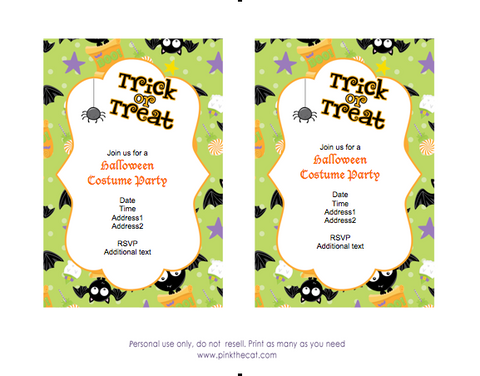 free halloween invitations for kids