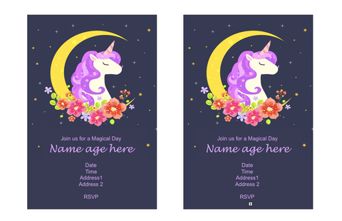 free printable unicorn invitation