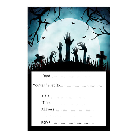 free fill in halloween invitation