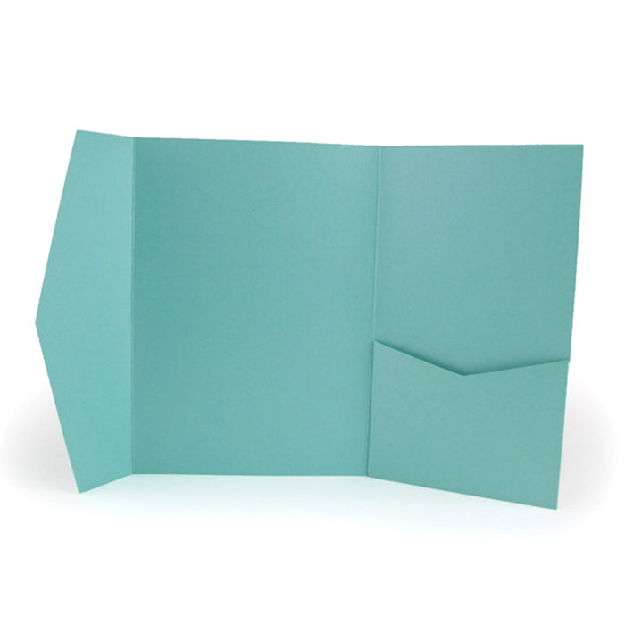 A7 Pocket envelope metallic teal #171