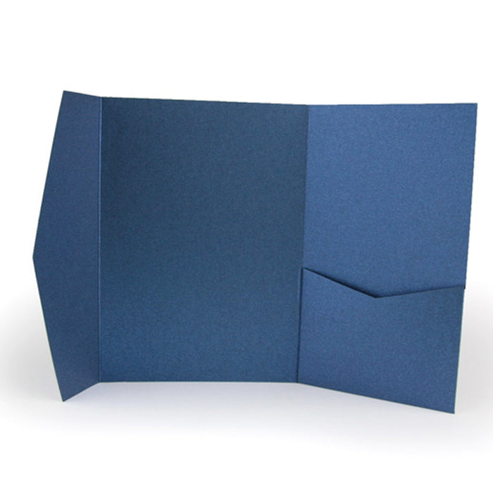 A7 Pocket envelope metallic dark blue #176