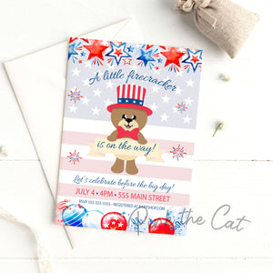 Little firecracker invitation