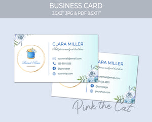 Premade sewing bobbin business card