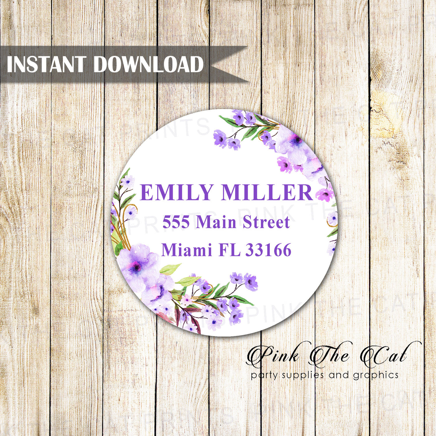graphic about Printable Address Labels Wedding referred to as Boho protect label boho pink floral birthday marriage printable