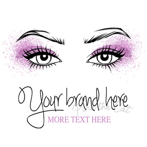Premade eyelash makeup beauty logo design #2