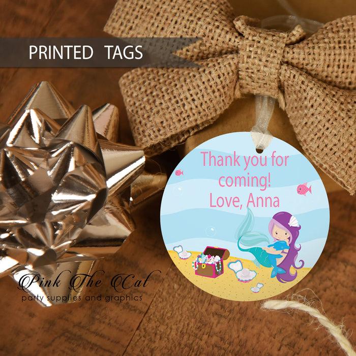 30 Mermaid favor tags birthday baby shower