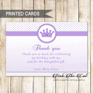 30 Thank You Cards Princess Lavender Birthday Baby Shower
