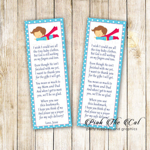 Superhero bookmarks baby shower favors for boys printable