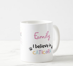 I believe in caticorn mug