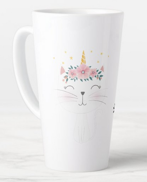 I believe in caticorn latte mug