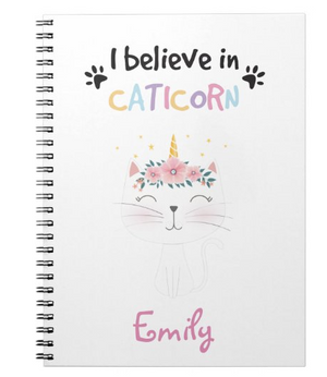 I believe in caticorn notebook
