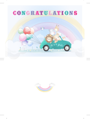 Congratulations baby birth jungle card