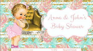 Candy bar wrappers chic vintage baby printable