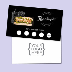 10% Sale Hot Dog Stamp Card