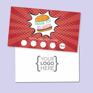 10% Sale Burger Stamp Card